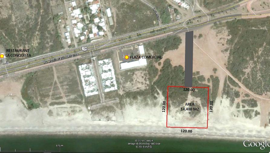 Terreno a la venta frente al mar, En San Carlos