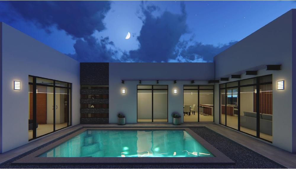 Casa en venta con alberca privada en San Carlos, Biznaga Residencial.