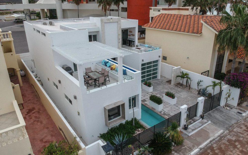 Casa en renta con alberca privada, En san carlos costa del mar