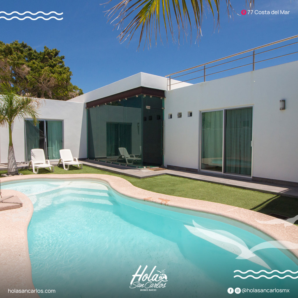 Casa en renta de 4 recamaras con alberca privada en San Carlos, Costa del mar