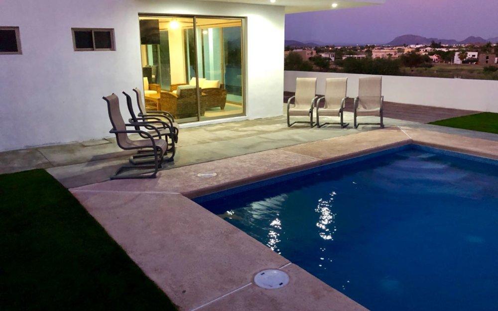 Casa en renta con alberca en San Carlos de 3 recamaras.