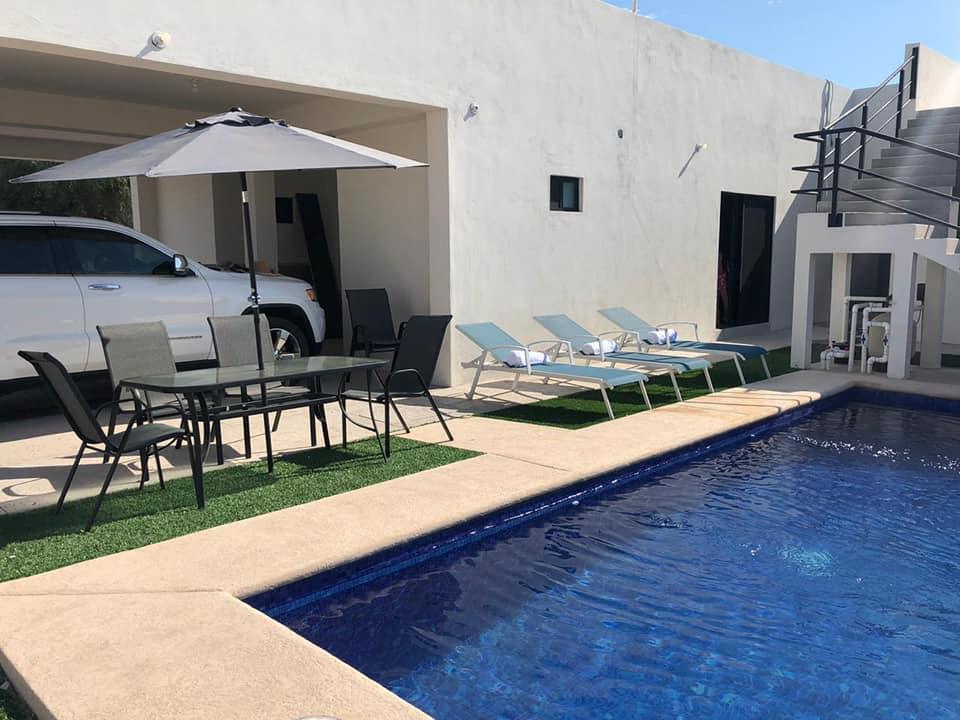 Casa en renta con alberca privada En san carlos, Country club